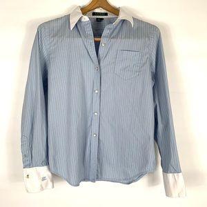 Lauren RL stripe button down shirt sz: small